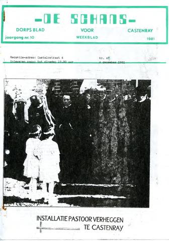 Castenrays dorpsblad De Schans 1981-12-04