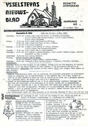 Ysselsteyns Nieuwsblad 1983-11-25