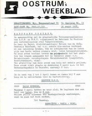 Oostrum's Weekblad 1978-03-30