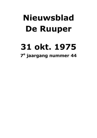 Dorpsblad Leunen-Veulen-Heide 1975-10-31