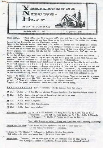 Ysselsteyns Nieuwsblad 1989-01-20