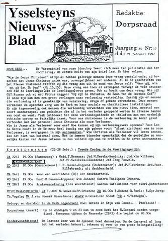 Ysselsteyns Nieuwsblad 1997-02-21