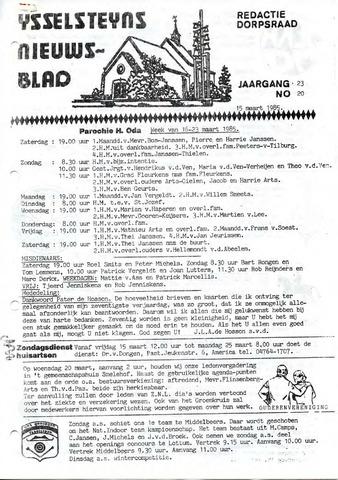 Ysselsteyns Nieuwsblad 1985-03-15