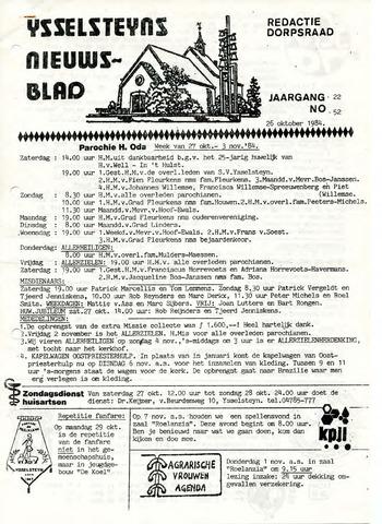 Ysselsteyns Nieuwsblad 1984-10-26