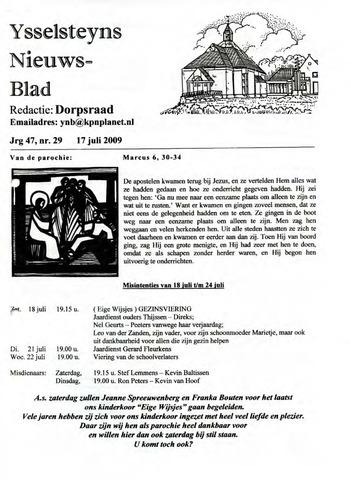 Ysselsteyns Nieuwsblad 2009-07-17