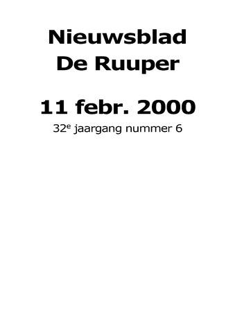 Dorpsblad Leunen-Veulen-Heide 2000-02-11