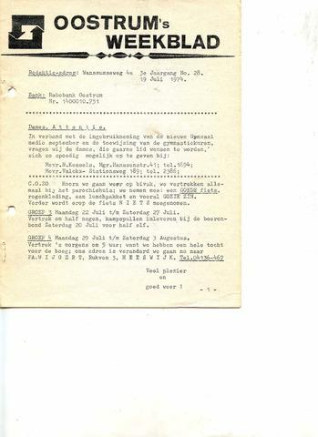 Oostrum's Weekblad 1974-07-19