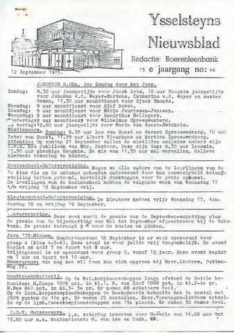 Ysselsteyns Nieuwsblad 1975-09-12