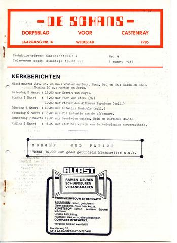 Castenrays dorpsblad De Schans 1985-03-01
