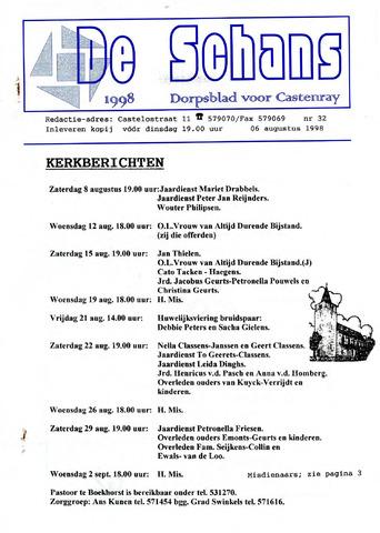 Castenrays dorpsblad De Schans 1998-08-06