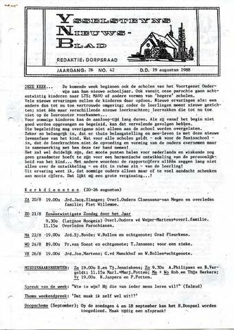 Ysselsteyns Nieuwsblad 1988-08-19