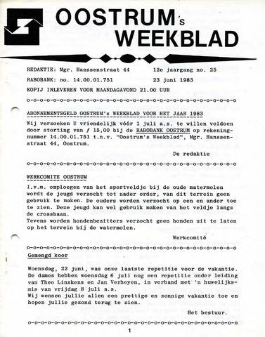 Oostrum's Weekblad 1983-06-23