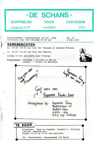 Castenrays dorpsblad De Schans 1990-05-04