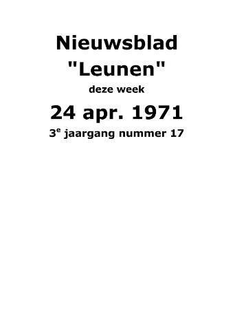 Dorpsblad Leunen-Veulen-Heide 1971-04-24
