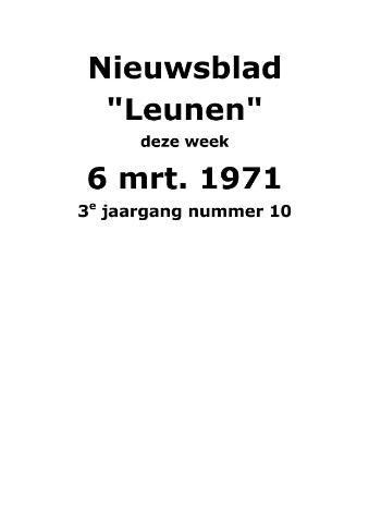 Dorpsblad Leunen-Veulen-Heide 1971-03-06