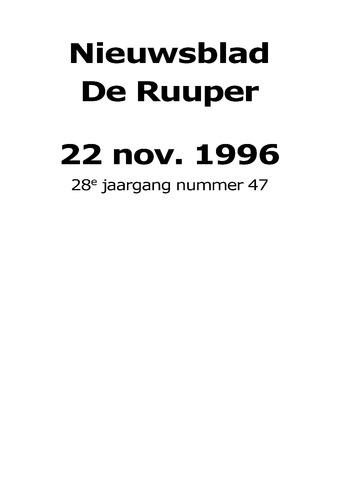 Dorpsblad Leunen-Veulen-Heide 1996-11-22