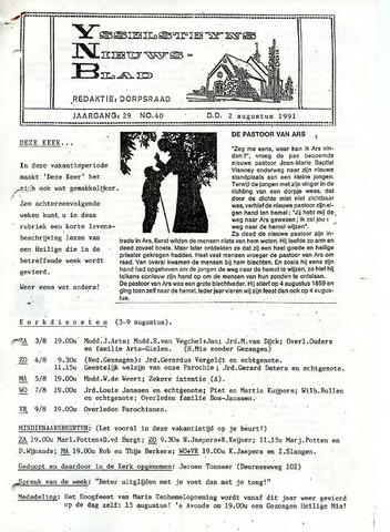 Ysselsteyns Nieuwsblad 1991-08-02