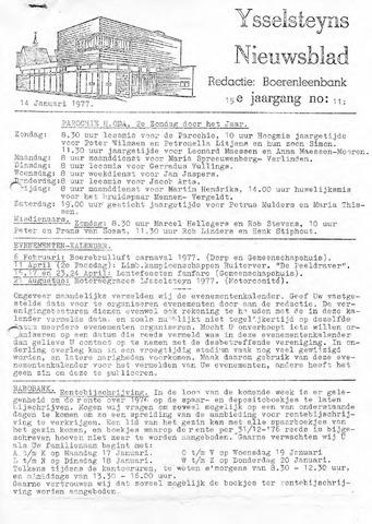Ysselsteyns Nieuwsblad 1977-01-14