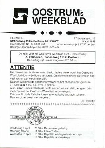 Oostrum's Weekblad 1998-04-09