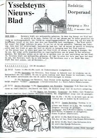 Ysselsteyns Nieuwsblad 1994-12-23