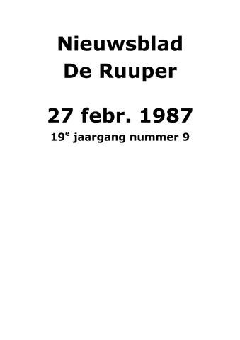 Dorpsblad Leunen-Veulen-Heide 1987-02-27