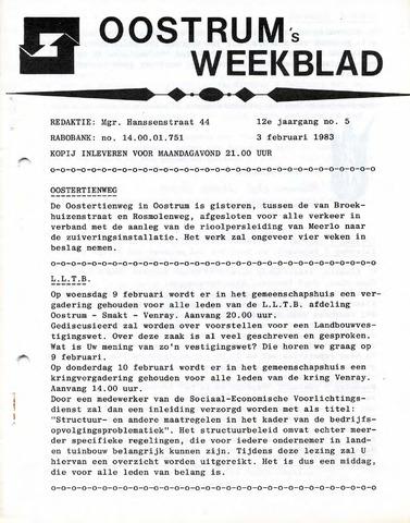 Oostrum's Weekblad 1983-02-03