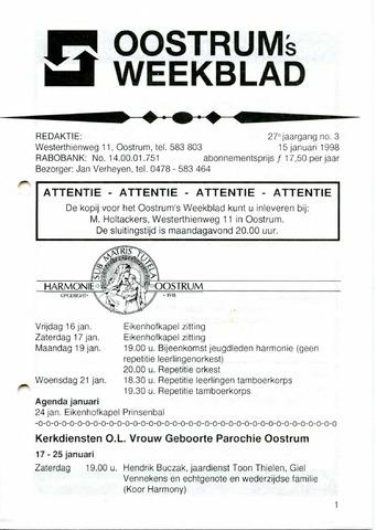 Oostrum's Weekblad 1998-01-15