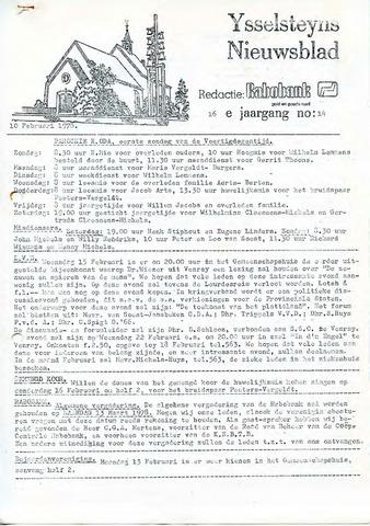 Ysselsteyns Nieuwsblad 1978-02-10