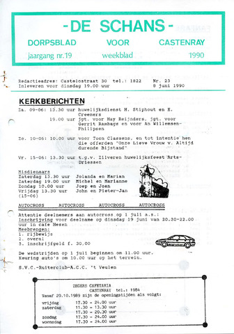 Castenrays dorpsblad De Schans 1990-06-08