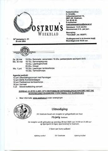 Oostrum's Weekblad 2005-05-26