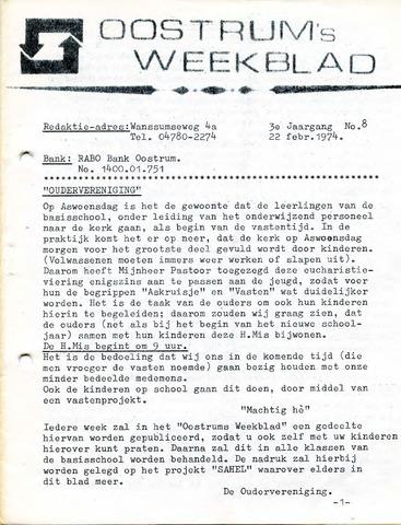 Oostrum's Weekblad 1974-02-22