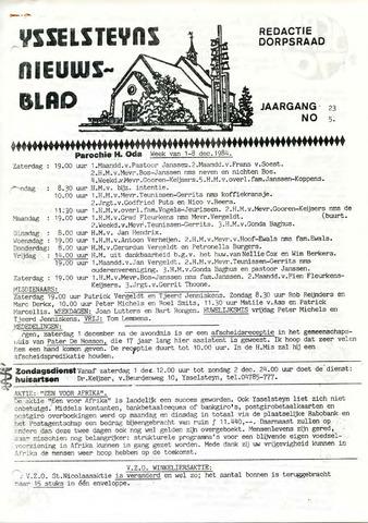 Ysselsteyns Nieuwsblad 1984-11-30