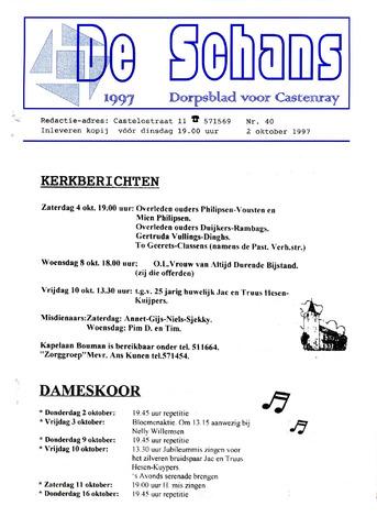 Castenrays dorpsblad De Schans 1997-10-02