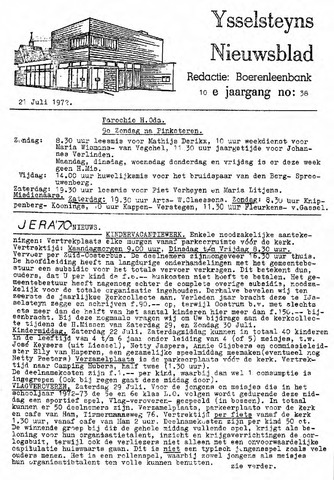 Ysselsteyns Nieuwsblad 1972-07-21