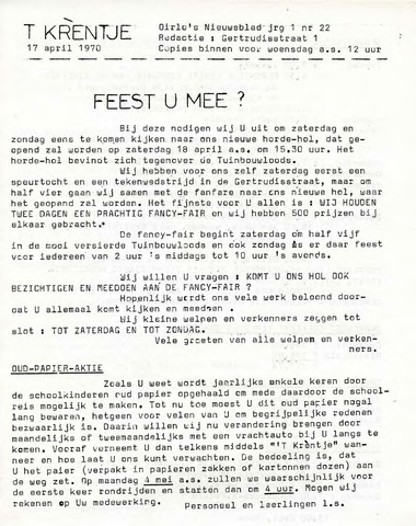 Oirlo's dorpsblad 't Krèntje 1970-04-17