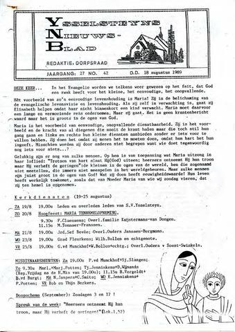 Ysselsteyns Nieuwsblad 1989-08-18