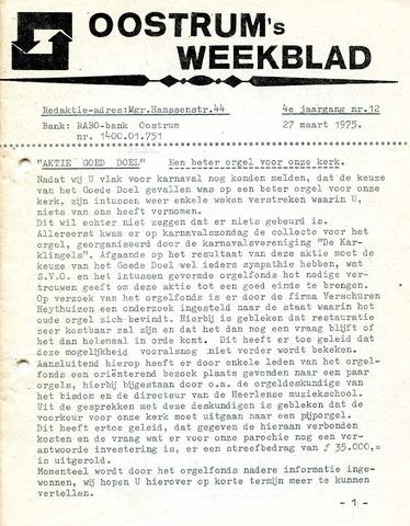 Oostrum's Weekblad 1975-03-27