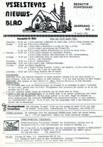 Ysselsteyns Nieuwsblad 1983-03-18
