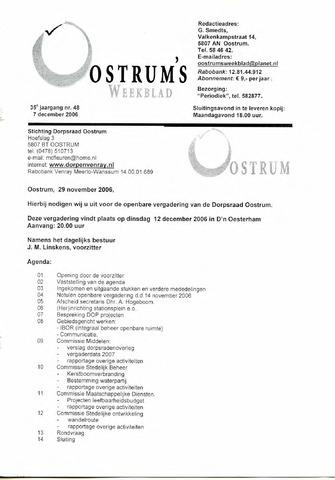 Oostrum's Weekblad 2006-12-07
