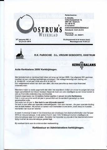 Oostrum's Weekblad 2010-01-28
