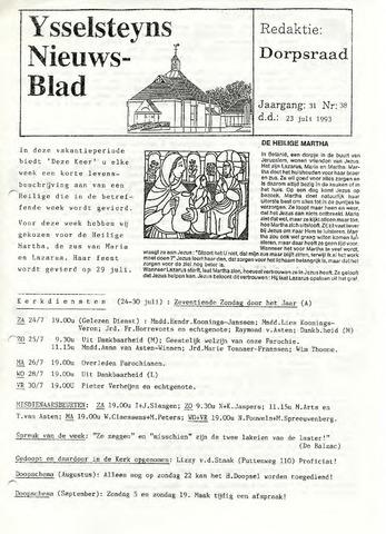 Ysselsteyns Nieuwsblad 1993-07-23
