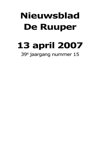 Dorpsblad Leunen-Veulen-Heide 2007-04-13