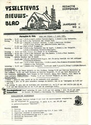 Ysselsteyns Nieuwsblad 1984-06-29