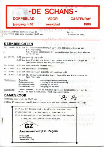 Castenrays dorpsblad De Schans 1989-08-18