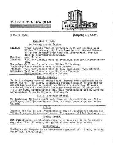 Ysselsteyns Nieuwsblad 1966-03-03