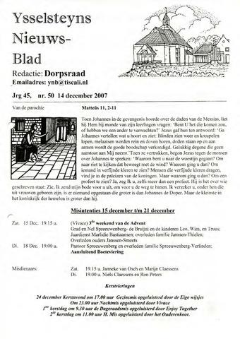 Ysselsteyns Nieuwsblad 2007-12-14