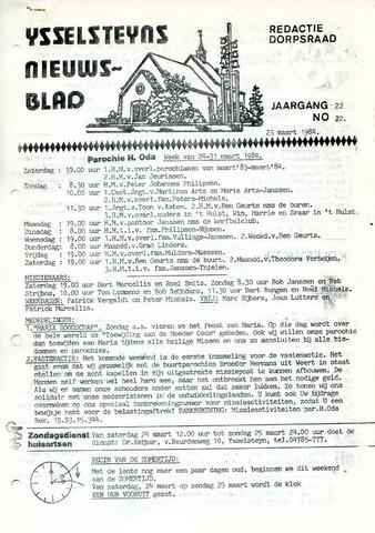 Ysselsteyns Nieuwsblad 1984-03-23