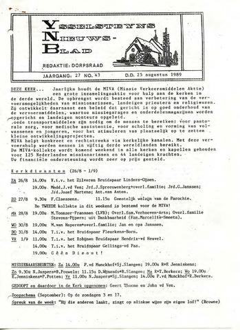 Ysselsteyns Nieuwsblad 1989-08-25