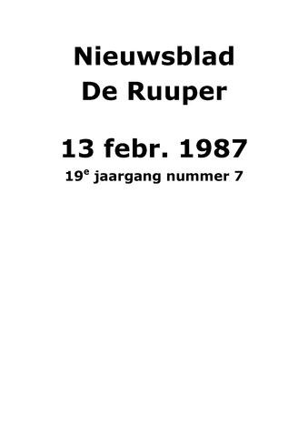 Dorpsblad Leunen-Veulen-Heide 1987-02-13