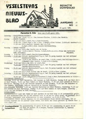 Ysselsteyns Nieuwsblad 1984-04-20